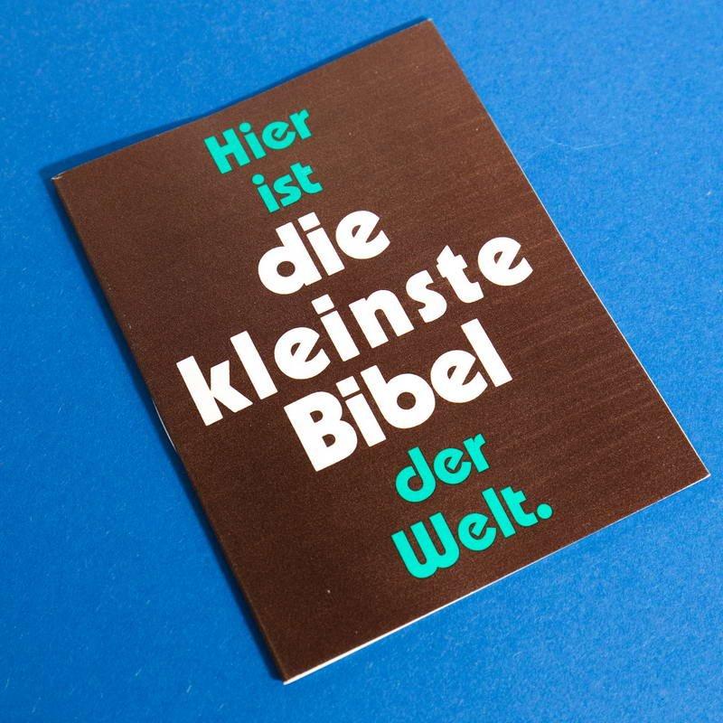 kleinste bibel der welt. Black Bedroom Furniture Sets. Home Design Ideas