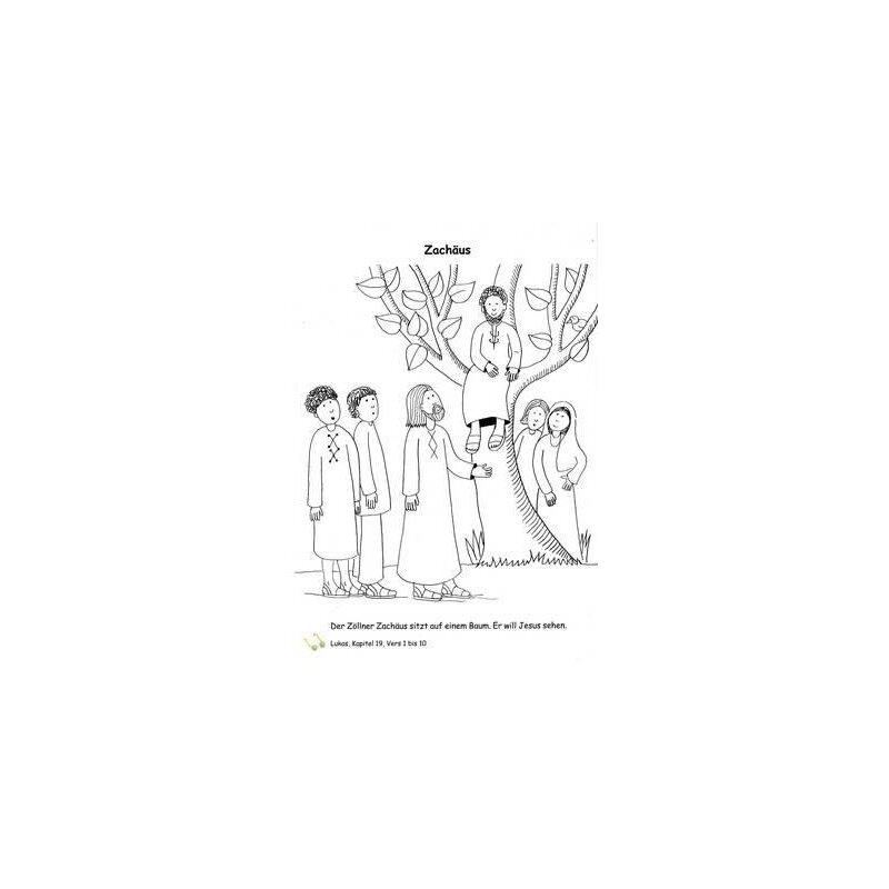 Ausmalbild Zachäus
