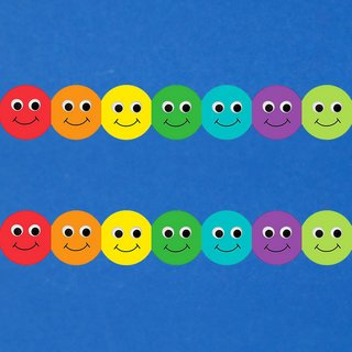 12 x Bordüre Bunte Smilies