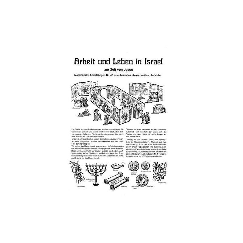 bastelbogen arbeit und leben in israel. Black Bedroom Furniture Sets. Home Design Ideas