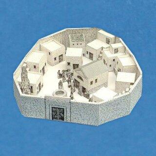 bastelbogen dorf in galil a. Black Bedroom Furniture Sets. Home Design Ideas
