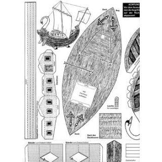 Bastelbogen römisches Frachtschiff